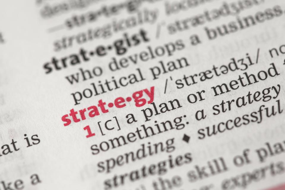 """Definition of strategy"" stock image"