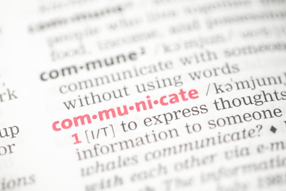 """Communicate definition"" stock image"