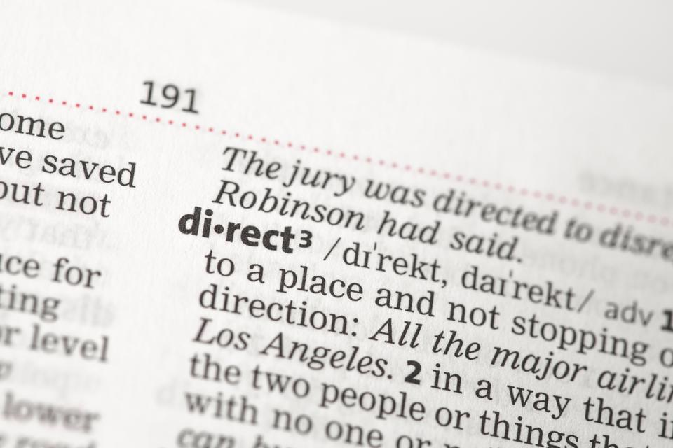 """""""Direct definition"""" stock image"""
