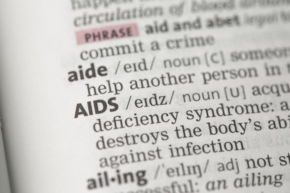 """""""AIDS definition"""" stock image"""