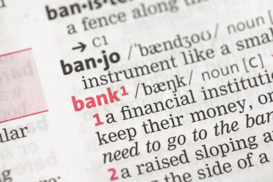 """""""Bank definition"""" stock image"""