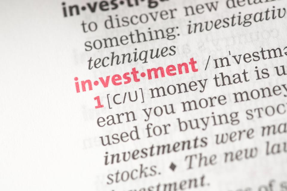 """Investment definition"" stock image"