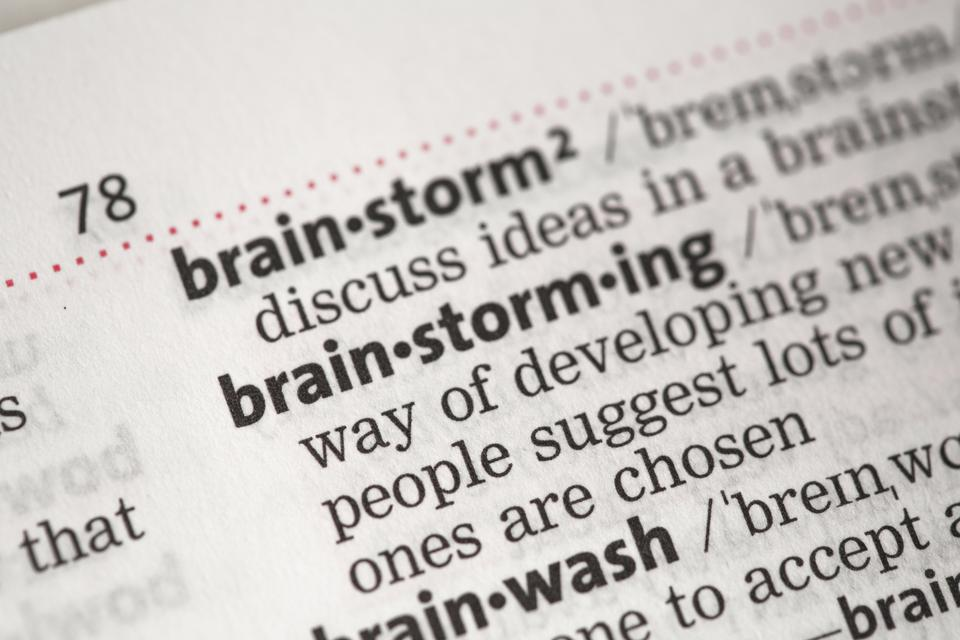 """""""Brainstorming definition"""" stock image"""