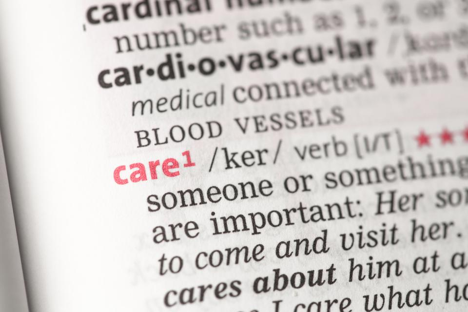 """""""Care definition"""" stock image"""