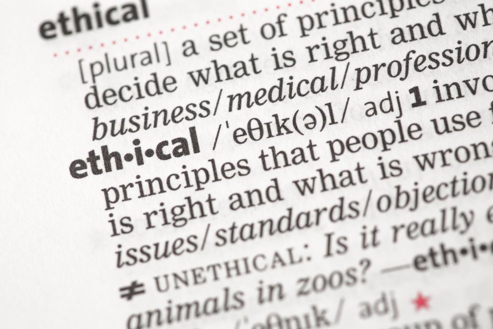 """""""Ethical definition"""" stock image"""