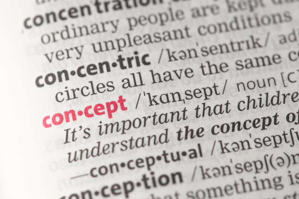 """""""Concept definition"""" stock image"""