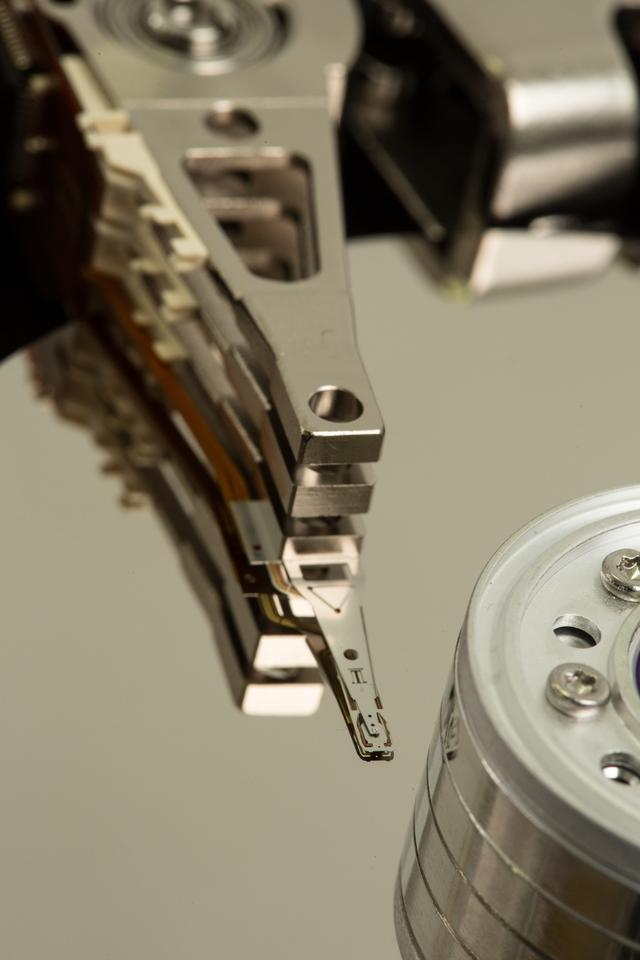 """Close up of a disk drive"" stock image"