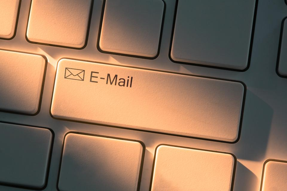 """Keyboard with close up on email button"" stock image"