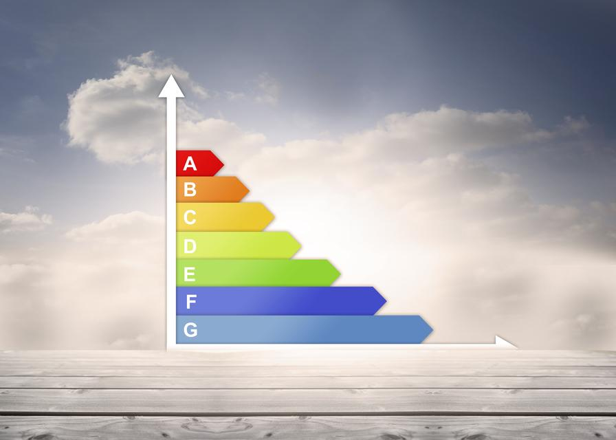 """""""Graph showing energy rating chart"""" stock image"""