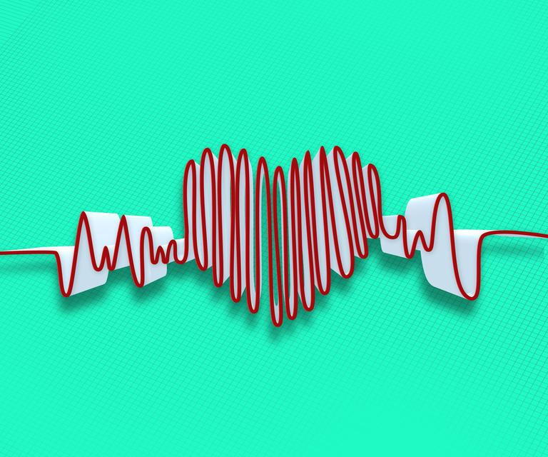 """Drawn heart line"" stock image"