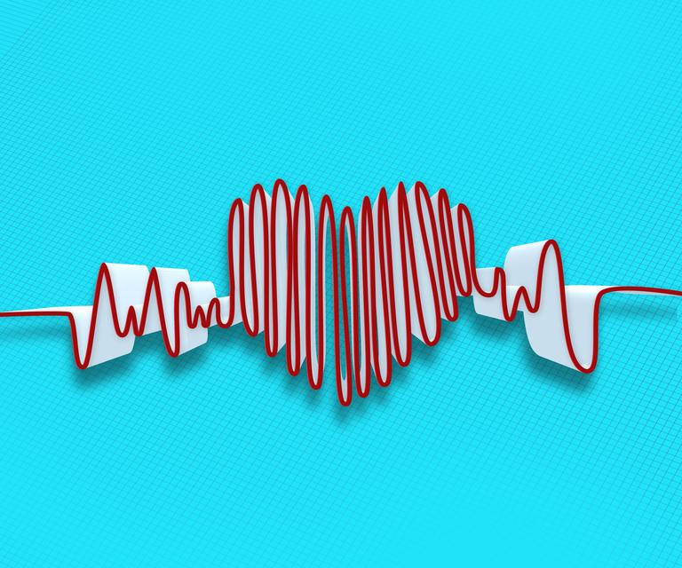 """Drawn heart beat line"" stock image"