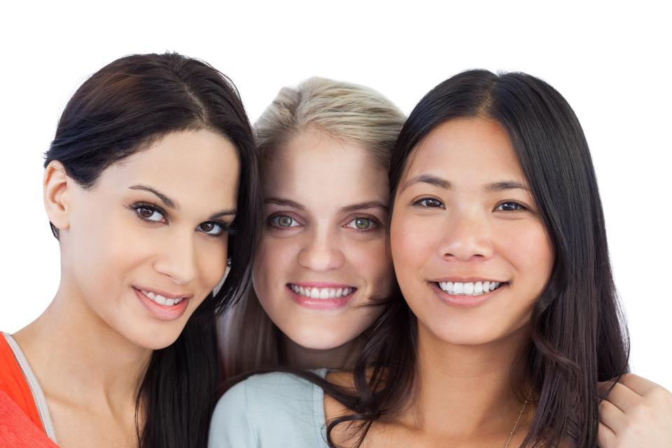 """""""Diverse young women smiling"""" stock image"""