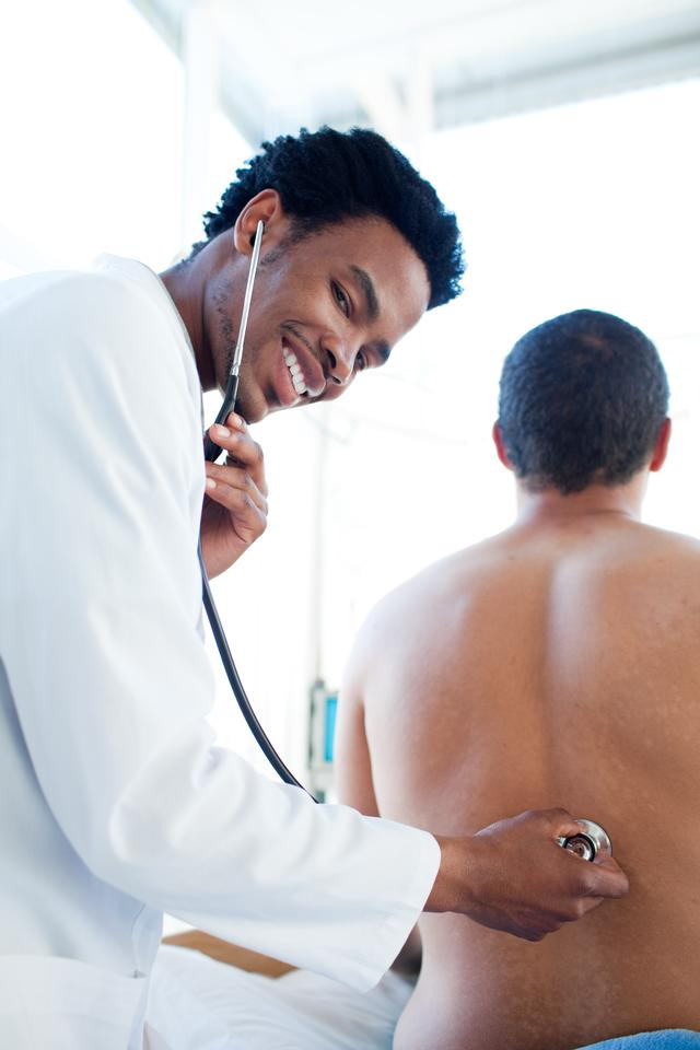 """""""Male patient at a checkup"""" stock image"""