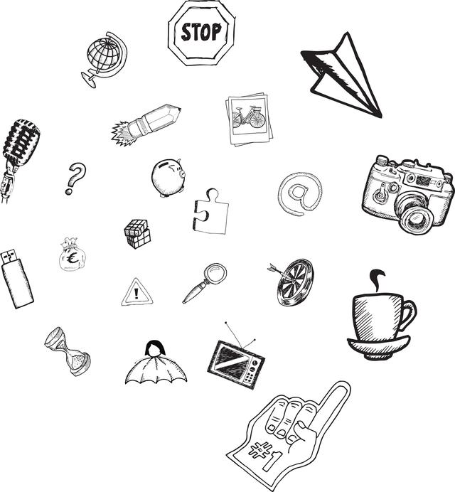 """""""Apps doodles"""" stock image"""
