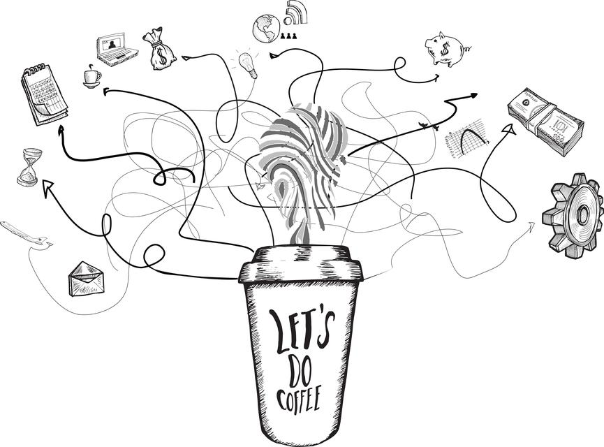 """""""Networking concept doodles"""" stock image"""