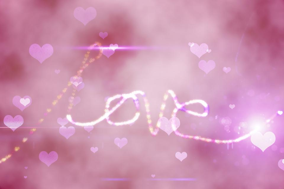 """""""Digitally generated love background"""" stock image"""