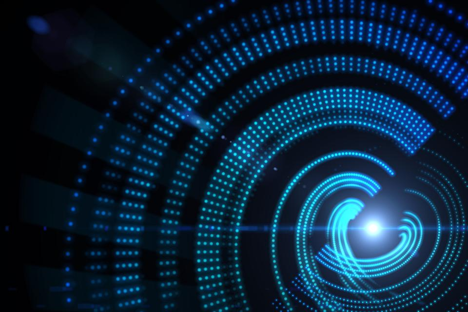 """""""Digitally generated spiral background"""" stock image"""
