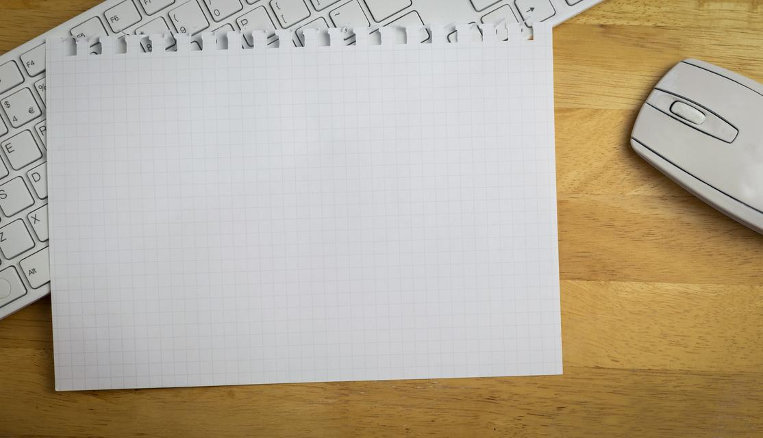 """""""Overhead of graph paper on keyboard"""" stock image"""