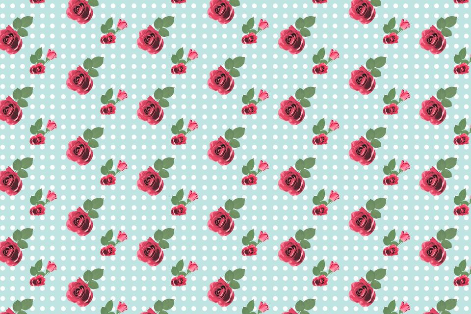 """""""Kitsch floral pattern wallpaper with roses"""" stock image"""