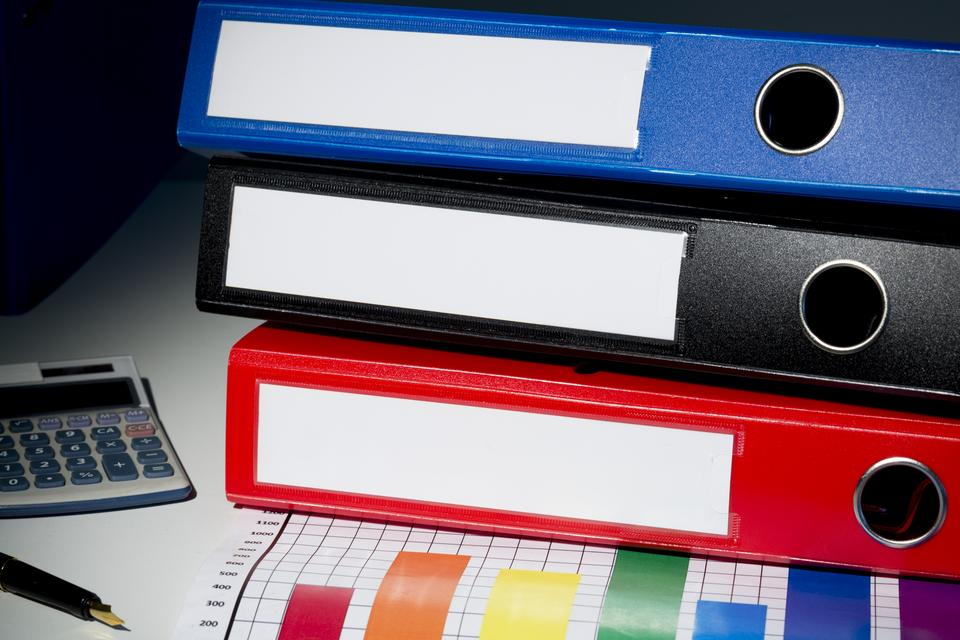 """Business binders"" stock image"