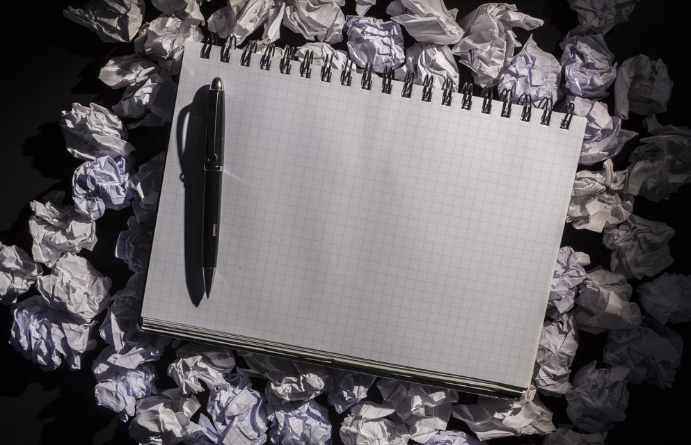 """Graph paper notebook with pen"" stock image"