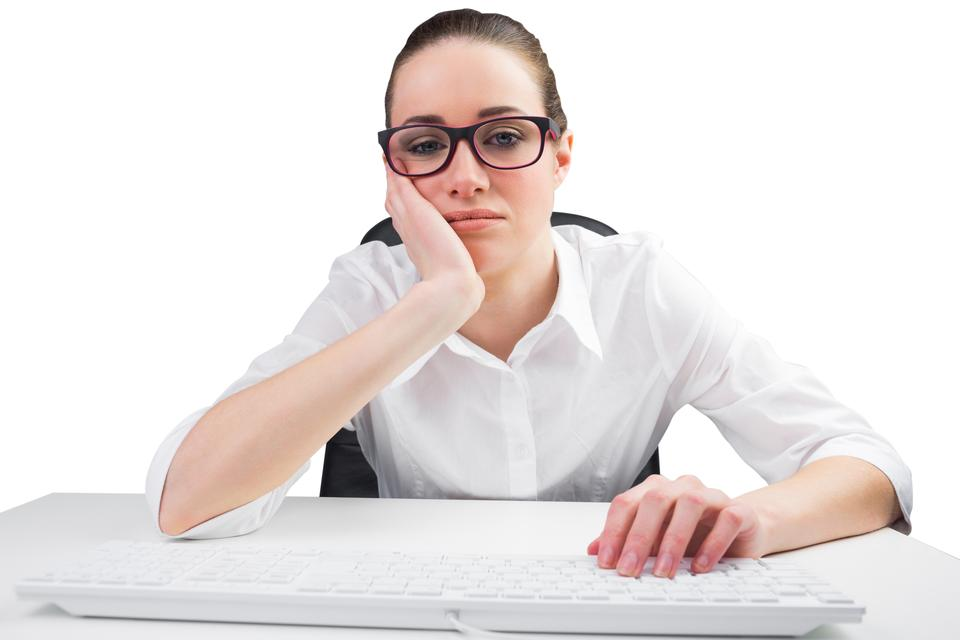 """""""Businesswoman typing on a keyboard"""" stock image"""