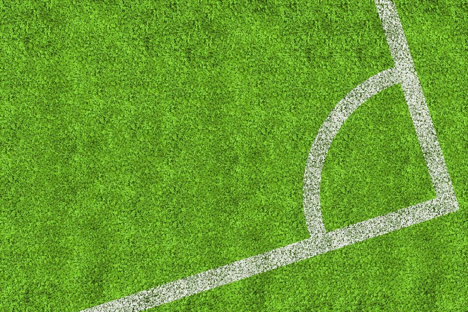 """Corner of football pitch"" stock image"