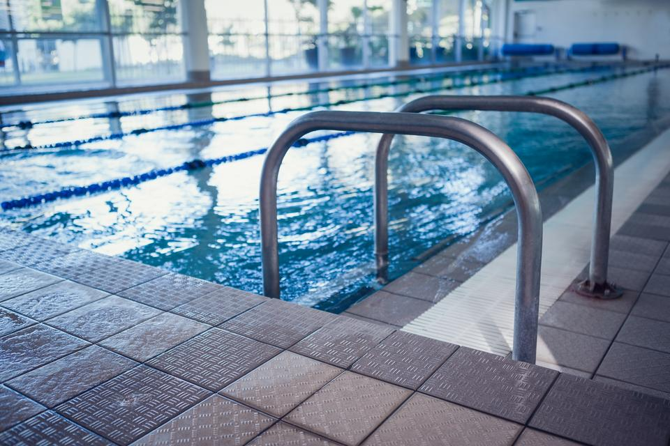 """""""Swimming pool with hand rails"""" stock image"""