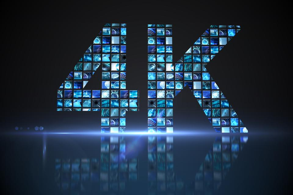 """4k made of digital screens in blue"" stock image"
