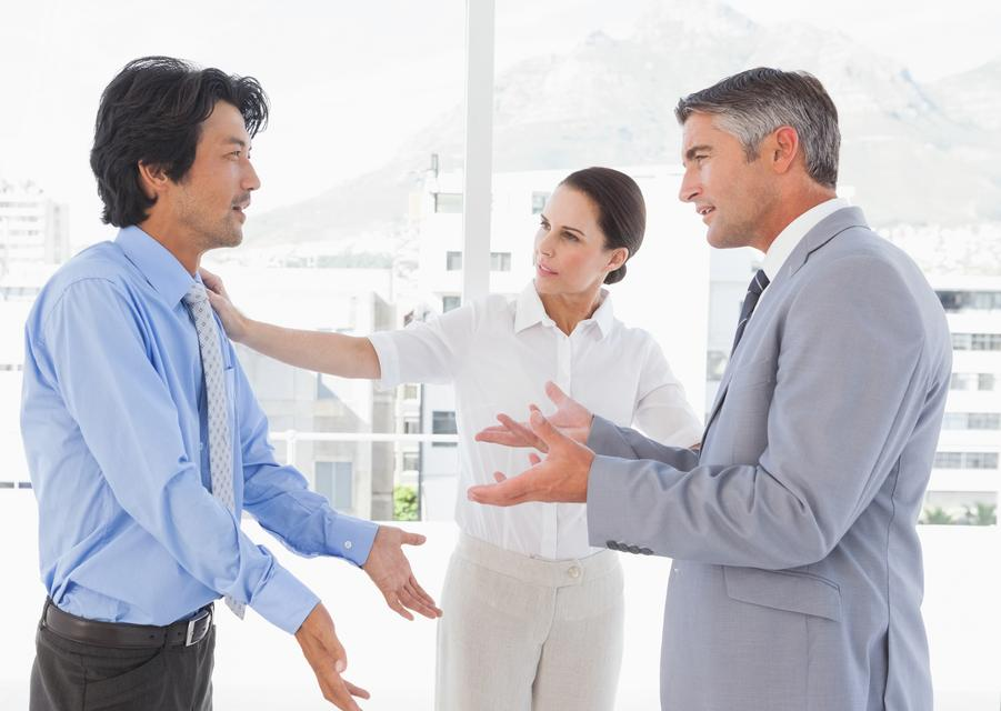 """Business people having an argument"" stock image"