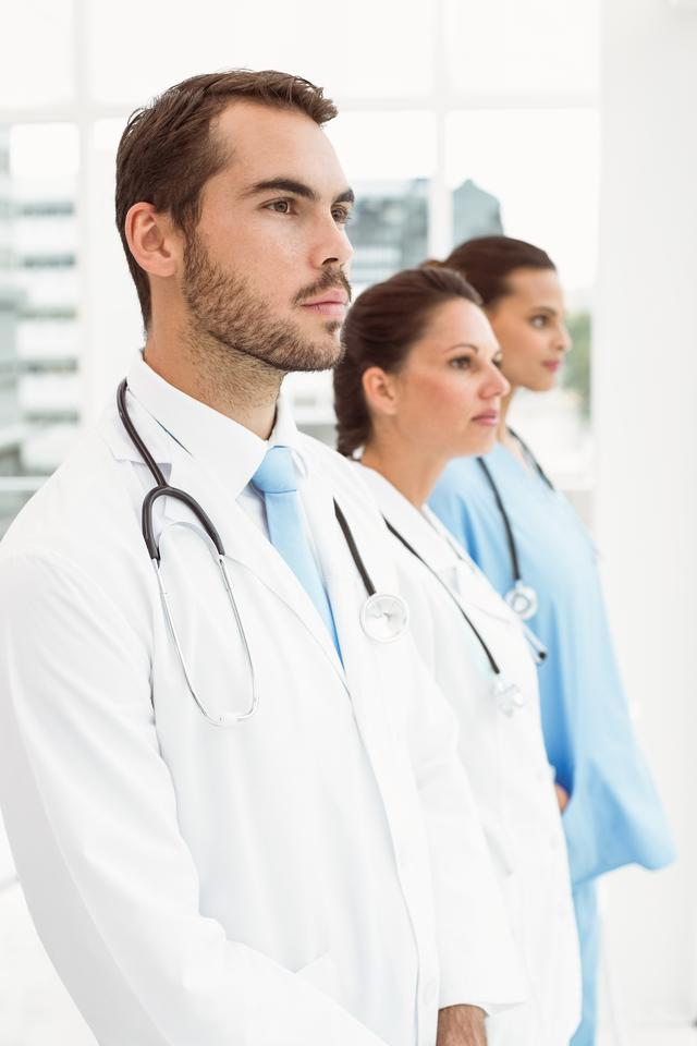 """""""Serious doctors at medical office"""" stock image"""