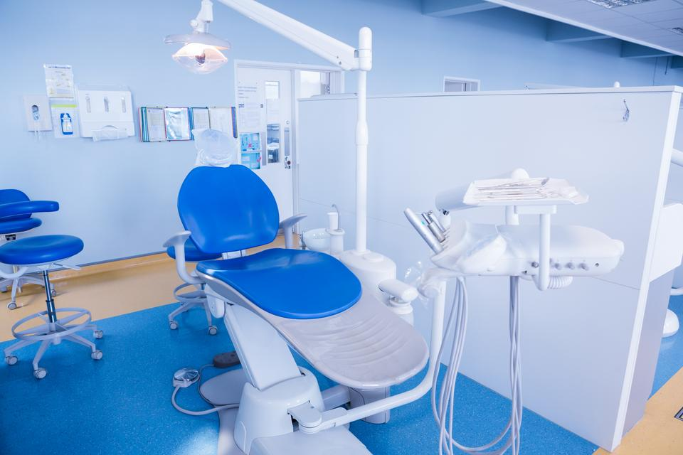 """""""Close up of a dentists chair"""" stock image"""