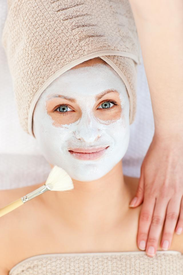 """""""Captivating woman receiving a beauty treatment"""" stock image"""