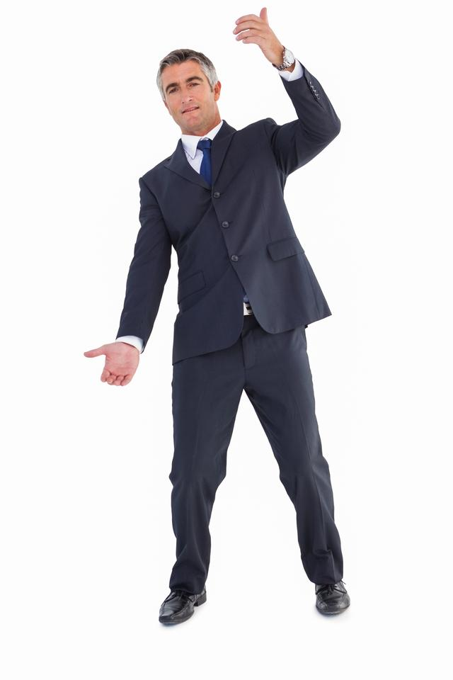 """Businessman well dressed doing gesture"" stock image"