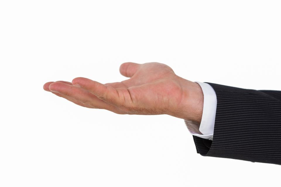 """""""Businessman with hand out"""" stock image"""