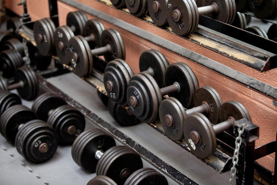 """Collection of barbells"" stock image"