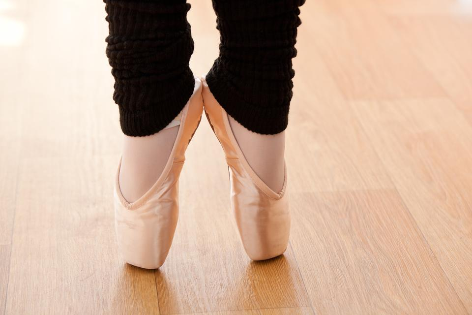 """""""Close up of a talented ballerina on tiptoe"""" stock image"""