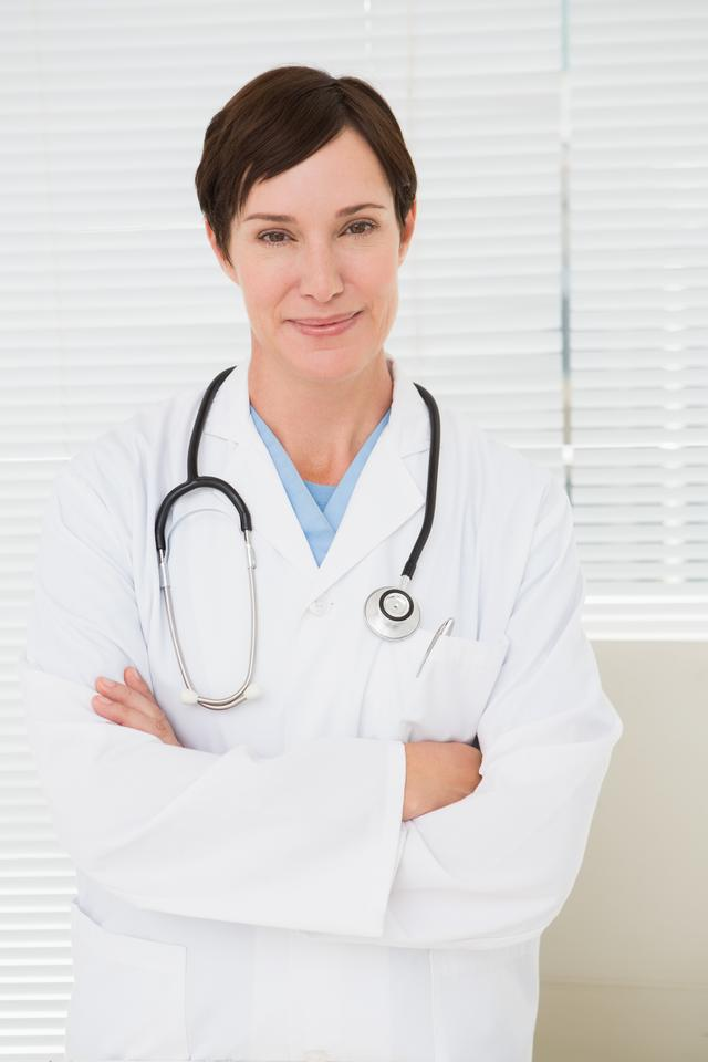 """Veterinarian with a stethoscope"" stock image"