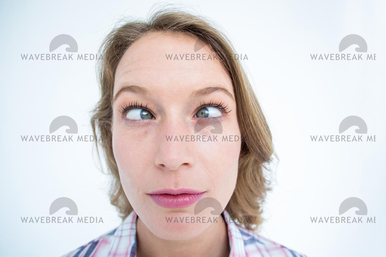 """""""Funny hipster grimacing"""" stock image"""