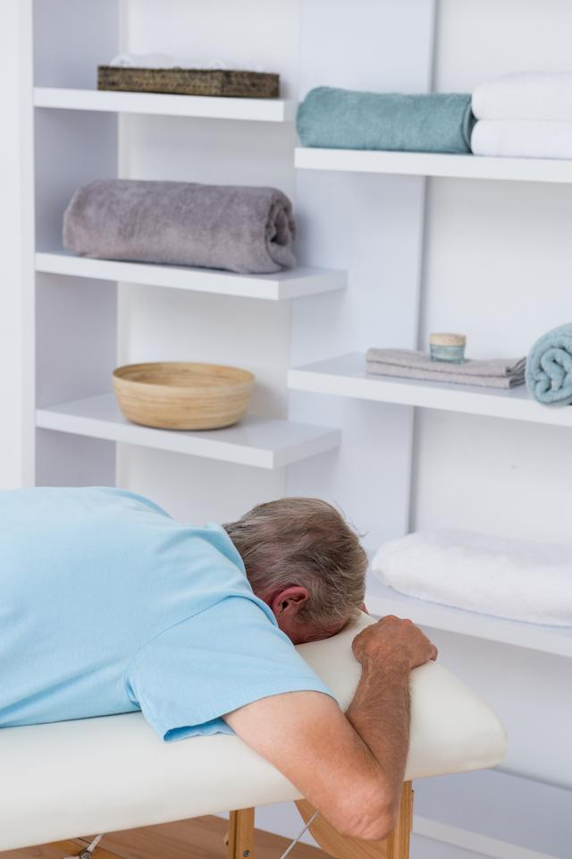 """""""Man in a medical bed"""" stock image"""