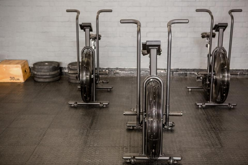 """""""Exercise cycle and equipment"""" stock image"""