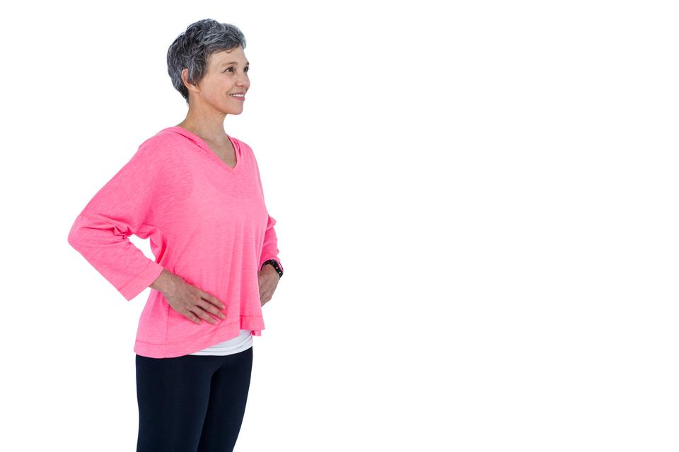 """Mature woman with hand on hip"" stock image"