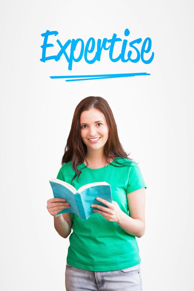 """""""Expertise against white background with vignette"""" stock image"""