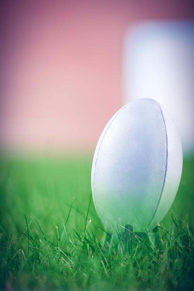 """Composite image of rugby ball"" stock image"