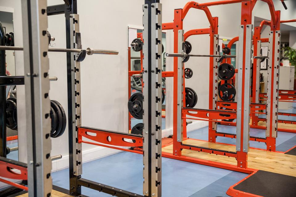 """Shot of weights and barbells"" stock image"
