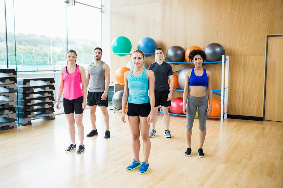 """""""Fitness class in the studio"""" stock image"""