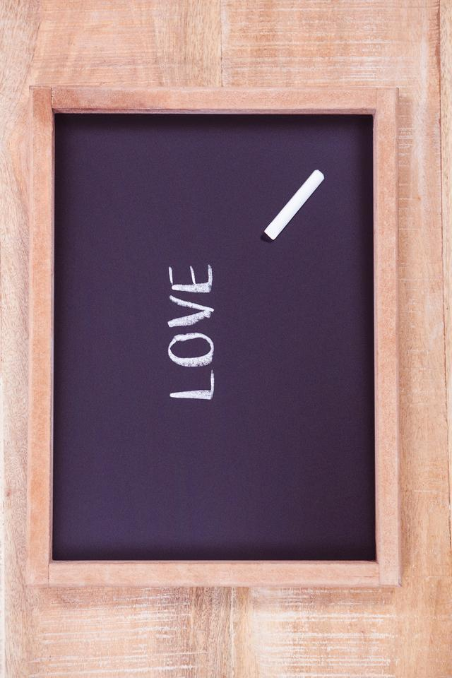 """""""Chalkboard with love text"""" stock image"""