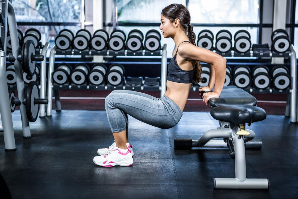 """""""Fit woman doing fitness exercises"""" stock image"""