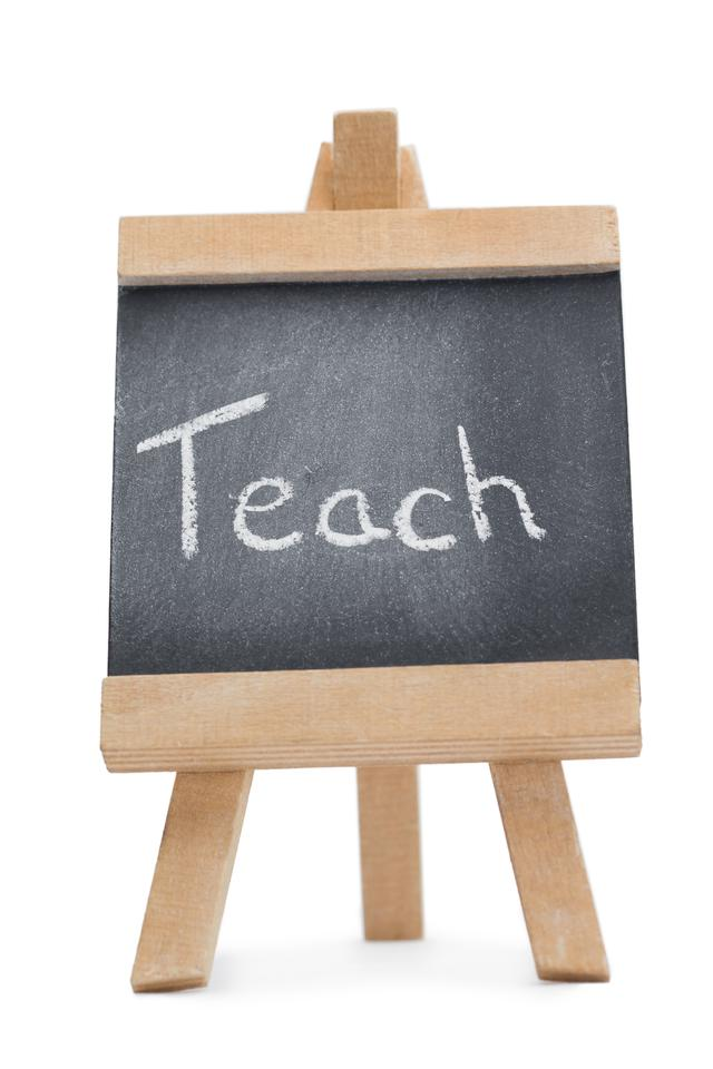 """""""Chalkboard with the word teach written on it"""" stock image"""