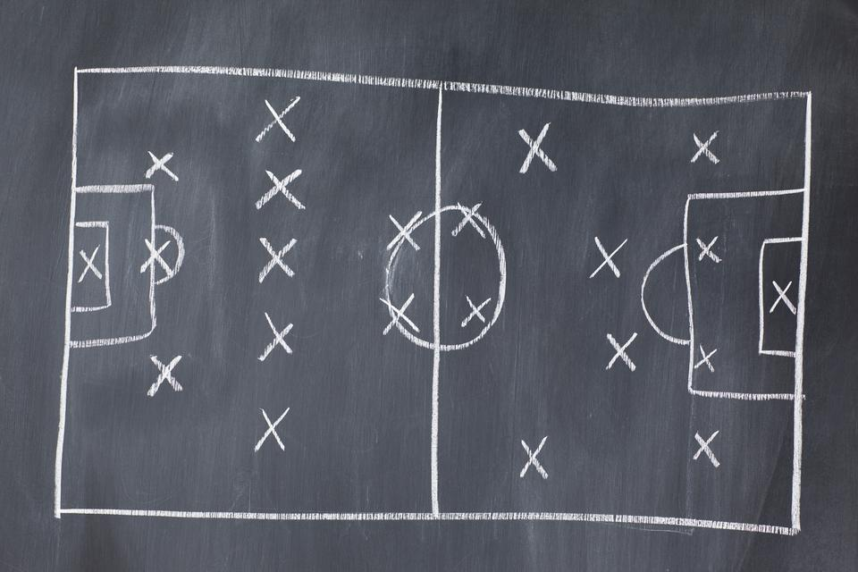 """Soccer football Strategy"" stock image"